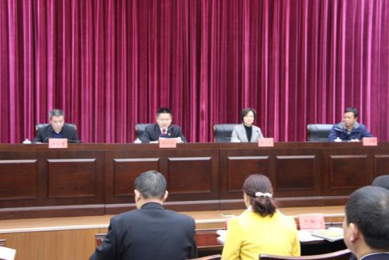 省法院覃文萍副院长带队来汉江中院检查考核...